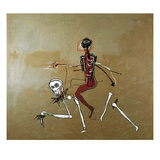 Riding with Death, 1988 Lmina gicle por Jean-Michel Basquiat