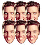 Elvis Presley 6pk-Face Masks F&#234;te - humour