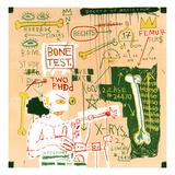 Kulstof 14-datering versus plastictape, 1982  Giclée-tryk af Jean-Michel Basquiat