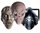 Doctor Who-Monsters 3pk- Cyberman,Silent,Weeping Angel-Face Masks Mask