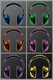 Headphones Pop Art Poster Poster