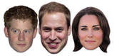 Royal Young Ones 3pk- William,Kate & Harry-Face Masks Maske