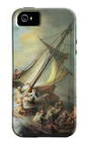 Christ in a Storm on the Sea of Galilee iPhone 5 Case by  Rembrandt van Rijn