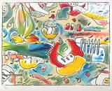Flower Abstract Eksklusivudgaver af Peter Max