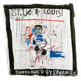 St. Joe Louis Surrounded by Snakes, 1982 Giclée-trykk av Jean-Michel Basquiat