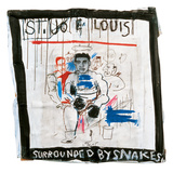 St. Joe Louis Surrounded by Snakes, 1982 Impressão giclée por Jean-Michel Basquiat