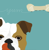 Peek-A-Boo: English Bulldog Posters by Yuko Lau