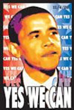 Barack Obama - Yes We Can Flocked Blacklight Poster Posters