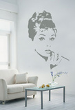 Audrey Hepburn Kalkomania ścienna