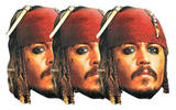 Captain Jack 3pk-Face Masks Psters de humor para fiestas