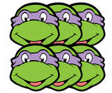 Donatello-TMNT-6-Pk-Face Masks Maske