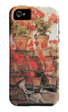 Red Geraniums iPhone 5 Case by Childe Hassam