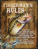 Fisherman&#39;s Rules Tin Sign