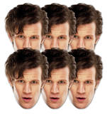 Doctor Who-Matt Smith 6pk-Face Masks Fête - humour