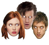 Doctor Who & Companions 3pk- Doctor Who,Amy & Rory-Face Masks - Maske