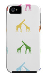 Rainbow Giraffes iPhone 5 Case by  Avalisa