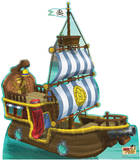 Bucky Pirate Ship - Jake and the Neverland Pirates Lifesize Standup Poster Stand Up