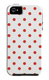 Red Polk-a-dots iPhone 5 Case por Avalisa
