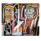Dammhuvuden, 1982 Gicléetryck av Jean-Michel Basquiat