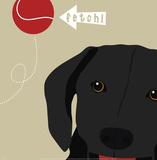 Peek-A-Boo: Labrador Prints by Yuko Lau