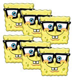 Specs' Sponge Bob Square Pants 6pk-Face Masks Novelty