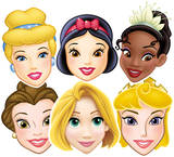 Disney Princesses 6pk-Face Masks Mask
