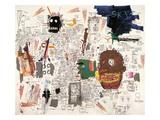 Sans titre, 1987 Reproduction procédé giclée par Jean-Michel Basquiat
