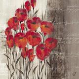 Crimson Play I Posters