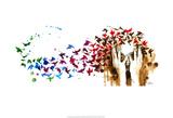 Birds, Birds, Birds Affiches par Lora Zombie