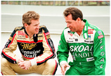 Harry Gant and Rusty Wallace Pocono 1990 Archival Photo Poster Prints