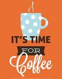 Coffee Time (Orange) Art by Genesis Duncan