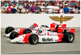 Emerson Fittipaldi and Paul Tracy Indianapolis 500 Archival Photo Poster Posters