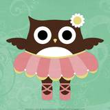 Ballerina Owl Print by Nancy Lee