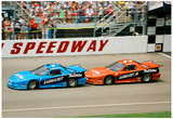 Dale Earnhardt Sr and Jr Archival Photo Poster Posters