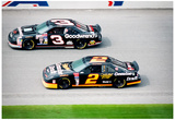 Dale Earnhardt and Rusty Wallace 1993 Daytona 500 Archival Photo Poster Pósters