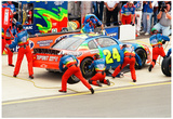 Jeff Gordon Pit Stop Archival Photo Poster Pósters