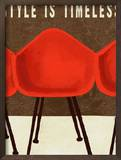 Style is Timeless Midcentury Chairs Prints by Lisa Weedn