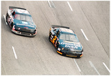 Dale Earnhardt and Rusty Wallace 1994 Archival Photo Poster Pósters