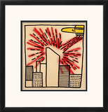 Spaceship with Ray, 1980 Impressão giclée emoldurada por Keith Haring
