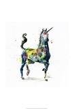 Chadwick: Unicornio Lámina por Lora Zombie
