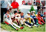 NASCAR Drivers at Pocono 1989 Archival Photo Poster Posters