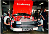 Dale Earnhardt Garage 1990 Archival Photo Poster Photo
