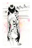 Lora Zombie - Tattoo Girl Umění