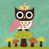 Princess Owl Prints by Nancy Lee