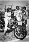 Lyn St. James and Rick Mears 1976 Archival Photo Poster Print