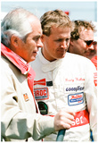 Rusty Wallace and Roger Penske 1989 Archival Photo Poster Poster
