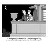 """A penthouse on Central Park West . . . not bad for a second-tier private-…"" - New Yorker Cartoon Regular Giclee Print by Alex Gregory"