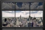 New York, vue sur gratte-ciels Poster