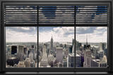New York - Window Blinds Póster
