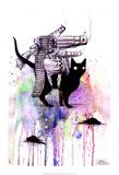 Super Cat Poster van Lora Zombie